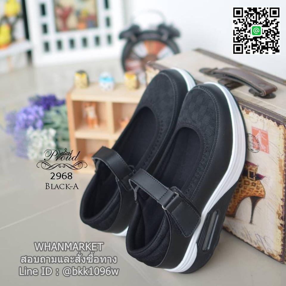 รองเท้าสุขภาพ ตัดเย็บด้วยผ้าตะข่ายและหนังพียูอย่างดี สายคาดแบบเมจิกเทป รูปที่ 2