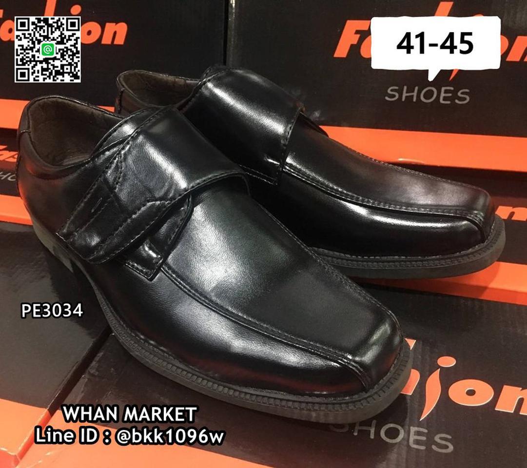 รองเท้าคัชชูผู้ชาย วัสดุหนังPU อย่างดี แบบสวม ทรงสุภาพ  รูปที่ 2