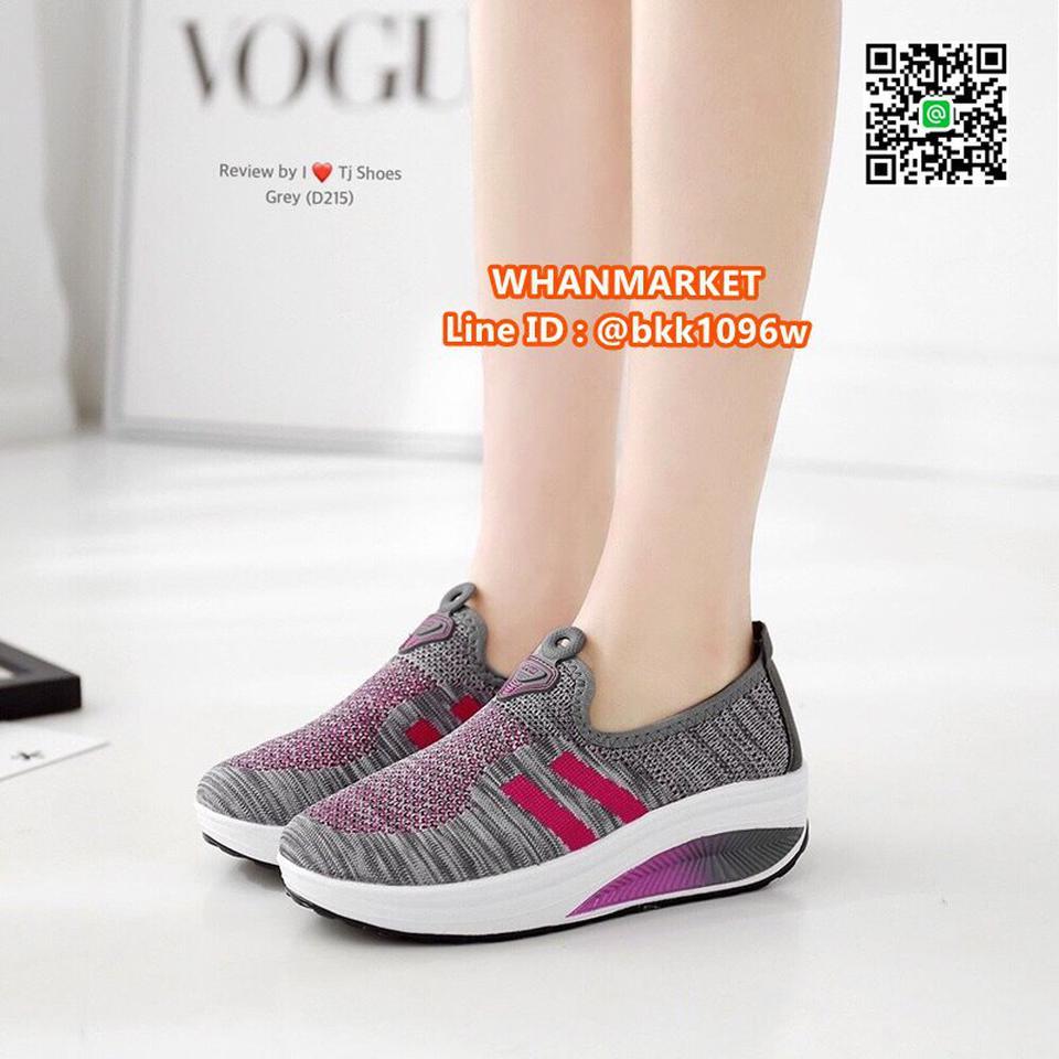 รองเท้าผ้าใบ เสริมส้น 2 นิ้ว วัสดุผ้าใบอย่างดี พื้นยาง  รูปที่ 4