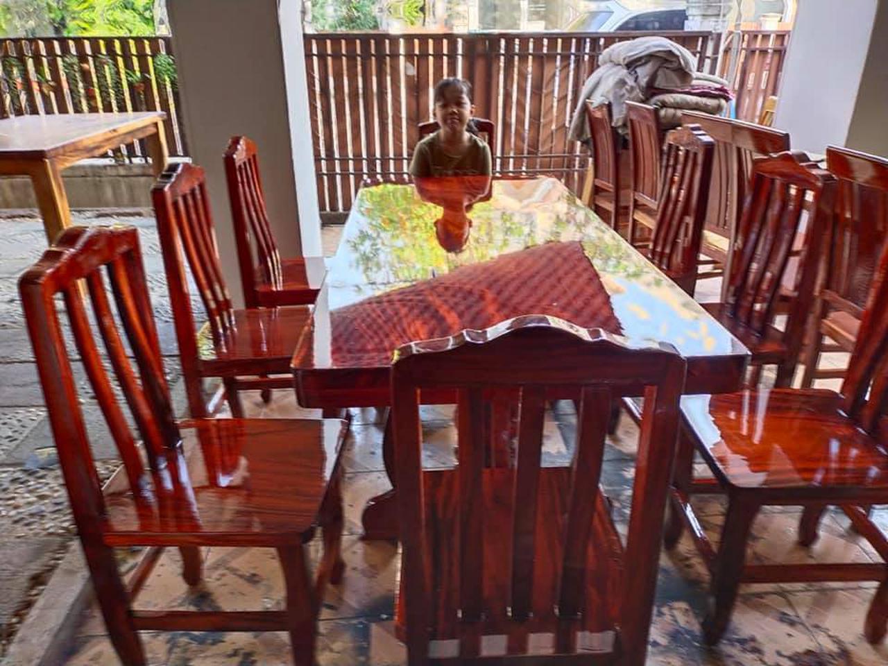 โต๊ะอาหาร ก80xย180+เก้าอี้ 8  ตัว  รูปที่ 2