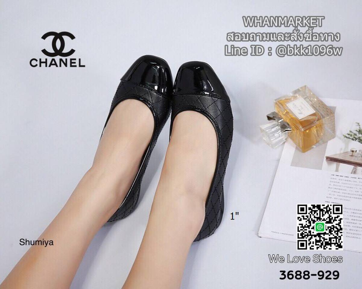 รองเท้าคัชชู งานสไตล์ Chanel งานหนังนิ่ม ส้นสูง 1 นิ้ว รูปที่ 1
