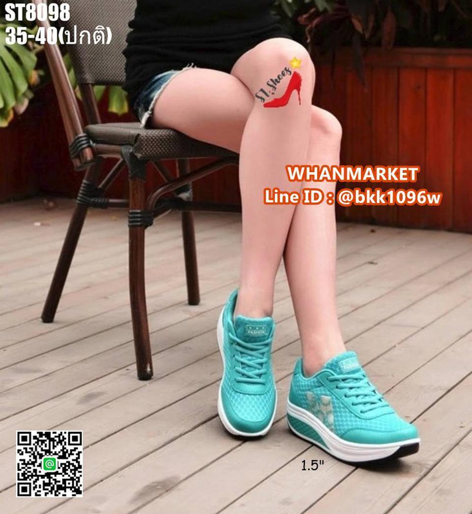 รองเท้าผ้าใบ แบบเสริมส้น 1.5 นิ้ว วัสดุผ้าทอ มีรูผ้าระบาย รูปที่ 6