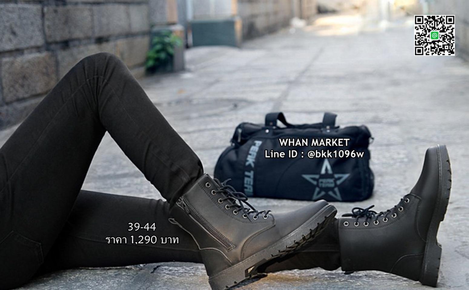 รองเท้าบูทผู้ชาย แฟชั่นนำเข้า วัสดุหนังPUคุณภาพดี มีซิปข้าง  รูปที่ 3