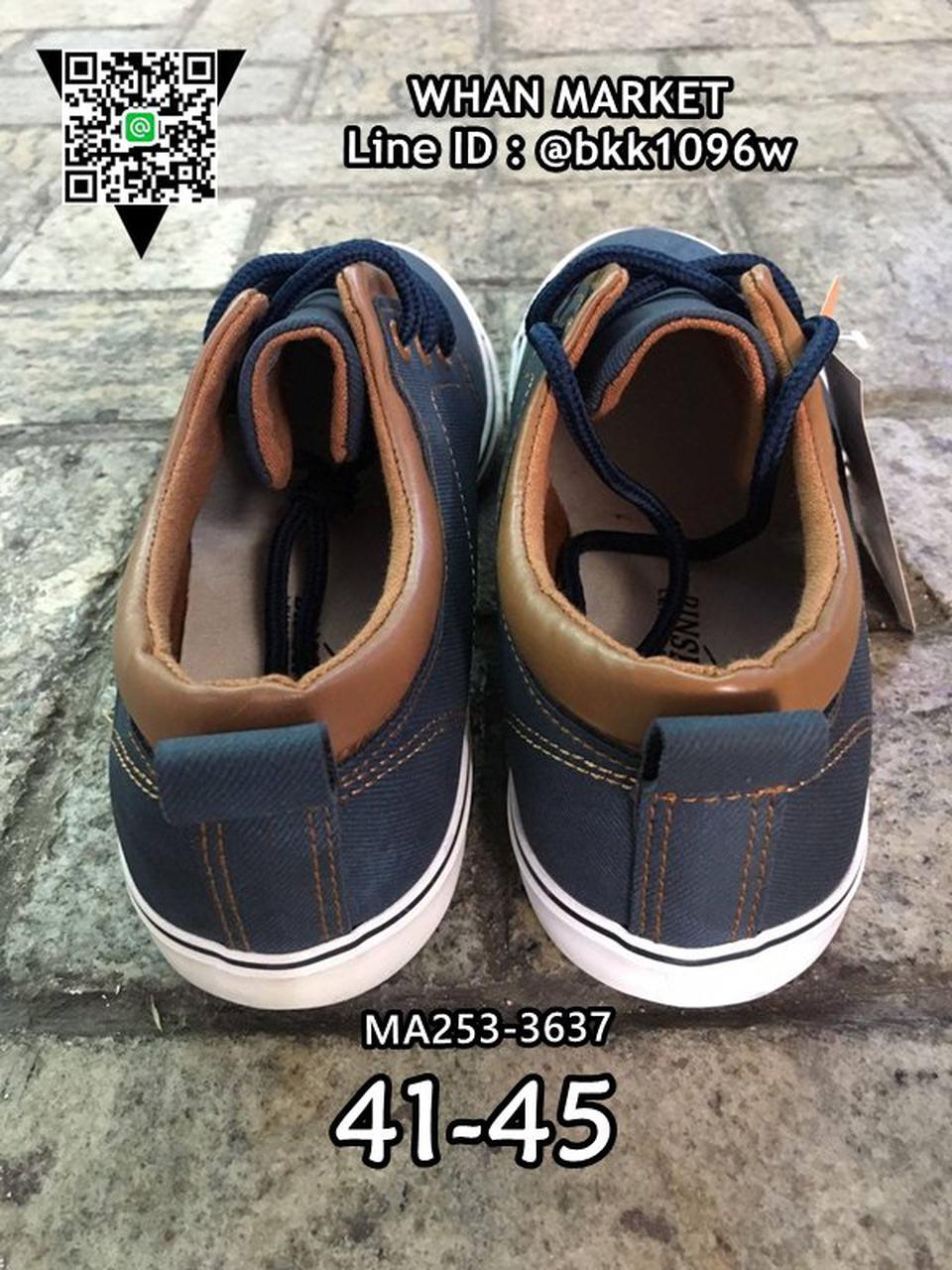 รองเท้าผ้าใบหนังผู้ชาย แบบผูกเชือก วัสดุหนังPUคุณภาพดี รูปที่ 4