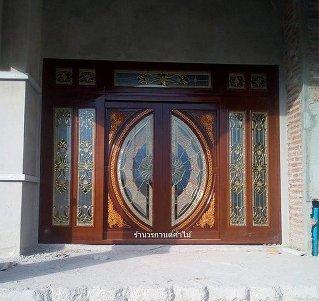 ประตูไม้สักกระจกนิรภัย รูปที่ 2
