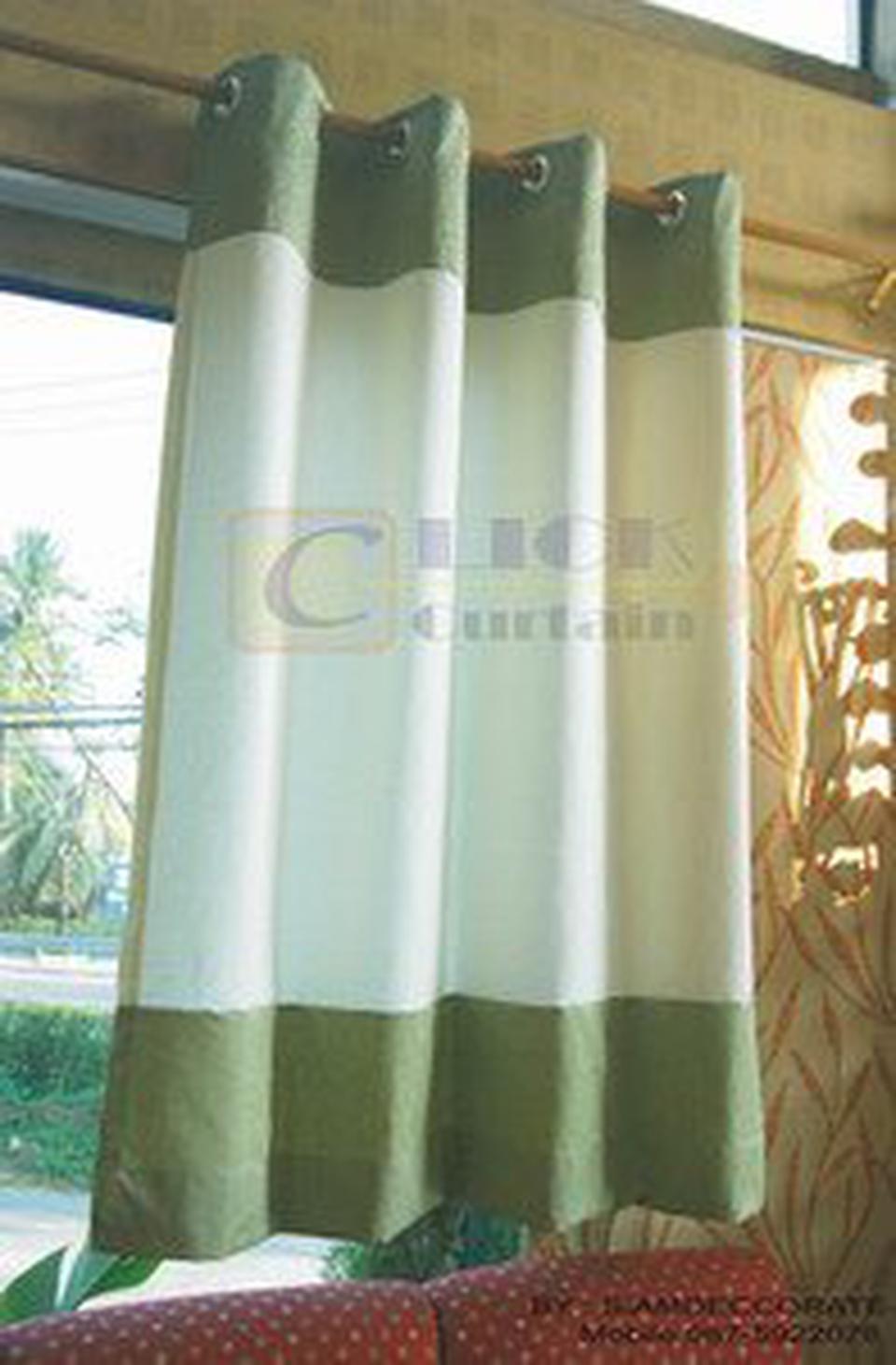 ร้านผ้าม่านสำเร็จรูป ( Click Curtain ) เราเป็นผู้ผลิตผ้าม่านสำเร็จรูปที่มีจำหน่ายหลากสไตล์ เช่น ม่านตอกตาไก่,ม่านคอกระเช รูปที่ 6