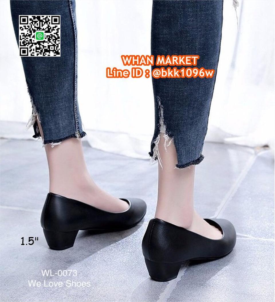 รองเท้าคัชชูสีดำ ส้นเหลี่ยม ส้นสูง 1.5 นิ้ว หนังPU อย่างดี  รูปที่ 1