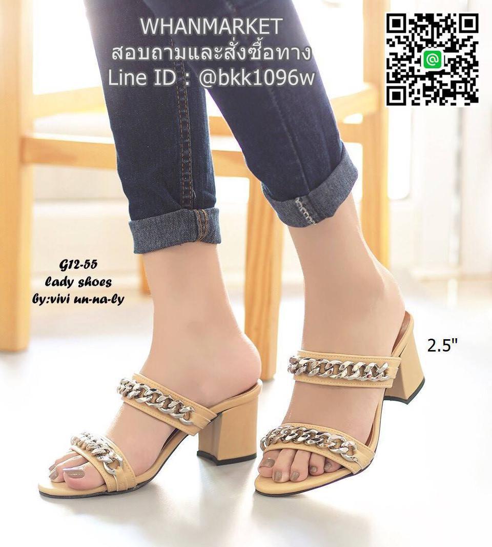 รองเท้าส้นสูง สไตล์ลำลอง ลุคพรีเมี่ยม สูง 2.5 นิ้ว รูปที่ 1