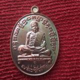 เหรียญเจริญพรสัตตมาส ลป.ทิม วัดละหารไร่ เนื้อทองแดงผิวรุ้ง ปี58 ตอกโค๊ต+เลข สภาพสวยมาก