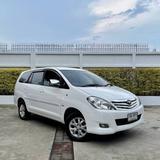 163 Toyota innova 2.0 G สีขาว เบนซิน 2009