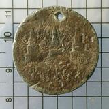 5319 เหรียญ ร.4 ดีบุก 8 อันเป็นเฟื้อง วงรีรอบ ช้างตัวเล็ก
