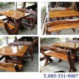 โต๊ะสนาม  ยาว 1.2 เมตร + เก้าอี้ 2 ตัว / ชุด