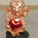 #คเณศน้อย รุ่นบันดาลรัก# #ครูบาชัยยาปัถพี # ~เนื้อสัมฤทธิ์แดง หัวใจแดง 250._บาท