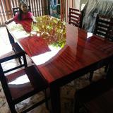 โต๊ะรับแขก 80x180 + เก้าอี้ 6  ตัว