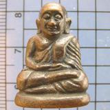 2695 รูปหล่อหลวงพ่อเงิน วัดบางคลาน เนื้อ ทองผสมรมดำ ก้นมีจาร