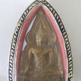 พระพุทธชินราช สองหน้า กรอบเงินลงยา