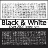 ดาวน์โหลดรูปภาพฟรี  Over 2000 Black and White Set icons Quality illustration design