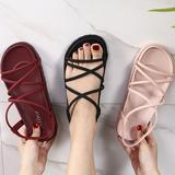 รองเท้าแตะเกาหลี รองเท้าแตะแฟชั่นผู้หญิง รองเท้าแตะสายไขว้สไตล์【XZ12】