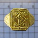 3496 แหวนสีวลี หลวงพ่อผ่อน วัดพระรูป จ.เพชรบุรี เนื้อทองฝาบา