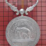 609 เหรียญช้างเผือก ส.พ.ป.ม.จ.5 เนื้อเงิน ปี 2507 กองกษาปณ์