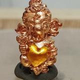 #คเณศน้อย รุ่นบันดาลรัก# #ครูบาชัยยาปัถพี # ~เนื้อสัมฤทธิ์แดง หัวใจเหลือง 250._