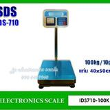 เครื่องชั่งพร้อมพิมพ์ในตัว100kg เครื่องชั่งวางพื้น ยี่ห้อ SDS รุ่น IDS710