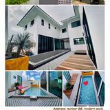 (ขายบ้านเดี่ยว 2 ชั้น) เชียงใหม่ หางดง  เลขที่ 88 สไตล์ Luxury Modern บ้านใหม่ พร้อมสระว่ายน้ำ