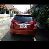 ขายรถtoyota yaris ปี 2014รุ่น1.2g สีส้ม top