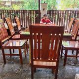 โต๊ะรับแขก 1m x 2 m + เก้าอี้ 8  ตัว