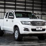 Toyota Hilux Vigo 3.0G D4D ปี 2014 สีขาว เลขไมล์ 99,000 กิโล ยางใหม่ 4 เส้น