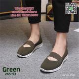 รองเท้าผ้าใบแบบสวม สไตล์สุขภาพ สายคาดยางยืดด้านหน้า น้ำหนักเบา สูง 1 นิ้ว