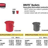 BRUTE  Buckets ถังพลาสติกหูหิ้วขอบจอก
