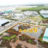 S246 ขายที่ดินอุตสาหกรรม 6 ไร่กว่า ติดถนนสองด้าน ใกล้ถนนพระราม 2 ราคา 3.5ล้าน/ไร่