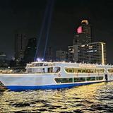 ล่องเรือดินเนอร์ รับประทานอาหารค่ำ ล่องแม่น้ำเจ้าพระยา เรือเมอริเดียน อลังกา ครูซ