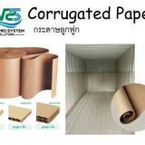 Corrugated Paper กระดาษม้วนลูกฟูกรองตู้คอนเทนเนอร์ด้านในเพื่อการกันกระแทก