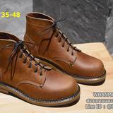 รองเท้าบูทหนังแท้ หนังออยน้ำมัน ยิ่งเก่าจะยิ่งมีมิติหนังที่สวยงาม Size 35-48