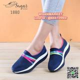 รองเท้าผ้าใบ เพื่อสุขภาพ วัสดุผ้าทอยืดหยุ่นดี แบบสวม ใส่ง่าย