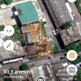 ขายที่ดิน 97.5 ตาราวา ติดริมถนน ใกล้ซอยวชิรธรรมสาธิต 53