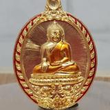 #เหรียญบัลดาลทรัพย์ # #หลวงพ่อสำเร็จศักดิ์สิทธิ์ วัดหนองสะเดา จ.สระบุรี# ~เนื้อทองทิพย์ลงยาจีวรขอบแดง 399._บาท