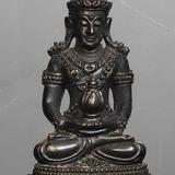 พระกริ่งยอดขุนพลตาลกง หลวงพ่ออุ้น วัดตาลกง จ.เพชรบุรี ปี2544 เนื้อนวะโลหะก้นเงิน หมายเลข 926 พระสวยมากพร้อมกล่องเดิม