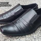 รองเท้าคัชชูหนังผู้ชาย วัสดุหนังPU คุณภาพดี แบบสวม ใส่ง่าย