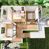 ขาย บ้านเดี่ยว บ้านสวนสวย องค์รักษ์ ขนาด 2 งาน พื้นที่ 80 ตรม.