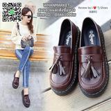 รองเท้าคัชชู Style Dr.Martens  สุดเกร๋ หนังนิ่ม งานนำเข้าคุณภาพดี  สูง 2 นิ้ว