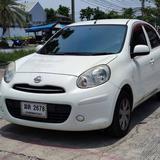 126 Nissan March 1.2 E 2011 AT สีขาว