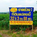 ขายที่ดินเนื้อที่ 32 ไร่  3 งาน 88 ตรว ติดถนน อยู่แหล่งชุมชนมีความเจริญสูง