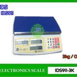 เครื่องชั่งคำนวณราคา3kg เครื่องชั่งดิจิตอล คำนวณราคา 0.5g ยี่ห้อ SDS รุ่น IDS911