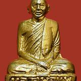 รูปเหมือนปั๊มหลวงพ่อแพ วัดพิกุลทอง จ.สิงห์บุรี รุ่นแรก ปี 2508 สวยเดิม
