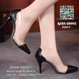 รองเท้าคัทชูหัวแหลม ส้นเข็ม สูง 3 นิ้ว ขอบข้าง พลาสติกใส ไม่บาดเท้า เนื้อนิ่ม