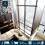 Urbano Absolute Sathon - Taksin For Rent 3 beds 120 sq.m. Floor 36