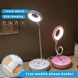 โคมไฟตั้งโต๊ะ LED มีช่องชาร์จไฟแบบ USB และแบบปลั๊ก